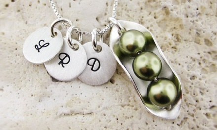 Peas in a Pod Sterling Silver Necklace from JC Jewelry Design (Up to 50% Off). Four Options Available.