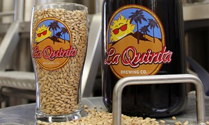 $19 For A Four-beer Flight With Take-home Growler And Tasting Glass At La Quinta Brewing Co. ($35 Value)