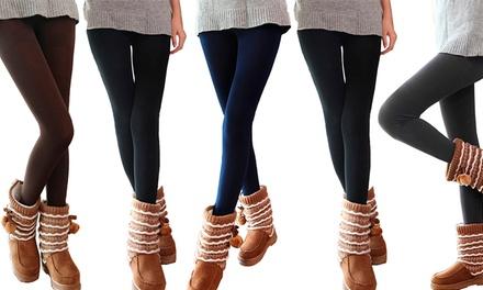 Conjunto de 5 leggings térmicas disponíveis em dois tamanhos diferentes por 19,99€