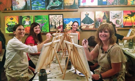Children's Painting Class or Adult BYOB Painting Class at The Royal Canvas Painting Parlor (Up to 60% Off)