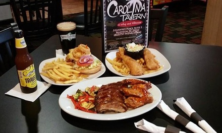 $11 for $20 Worth of BBQ, Burgers, Wings, Ribs and more at The Carolina Tavern - Bluffton