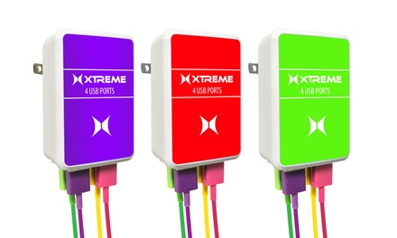 Xtreme 2.1 Amp 4-Port USB Charger