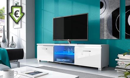Móvel de televisão com luzes LED disponível em branco e preto desde 89 € com envio gratuito