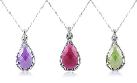 Birthstone Pendant Necklace with Swarovski Elements