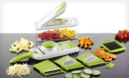 Multi-Blade Chopper and Adjustable Slicer Set