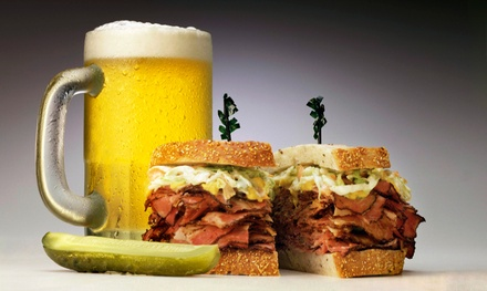 Brunch or Sandwiches for Two or Four with Drinks or Takeout at Brix Brews & NY Deli (Up to 46% Off)