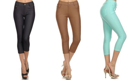 Women's Capri Jeggings (3-Pack)