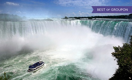 groupon daily deal - Stay with Drinks, Wine Tasting, and Dining Credits at Wyndham Garden Niagara Falls Hotel in Ontario, with Dates into May