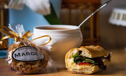 $15 for Three Vouchers, Each Valid for $10 Worth of Food, Pastries, and Drinks at Margot Patisserie ($30 Value)