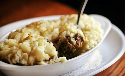 Pub Food at Tommy Doyle&#x27;s Irish Pub &amp; Restaurant (Up to 53% Off). Two Options Available.