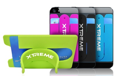 Xtreme Stick-On Card Holder with Stand for Smartphones; 1 for $7.99 or 2 for $9.99