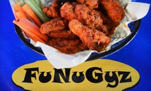 Pub Food at FuNuGyz Sports Grill (Up to 51% Off). Two Options Available.