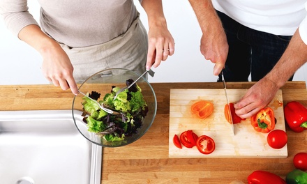 In-Home Cooking Class for Two or Four or Romantic Dinner for Two from Exquisite Gourmet Service (Up to 59% Off)