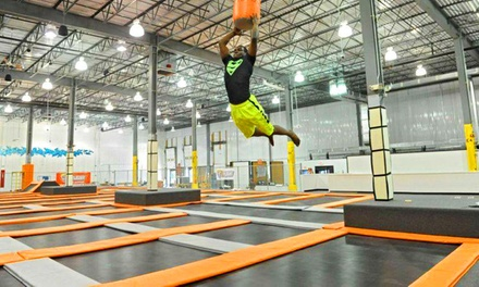 $18 for a One-Hour Jump for Two, Valid Monday-Thursday at Flight Trampoline Park ($28 Value)