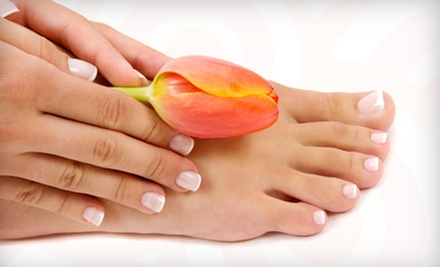 Signature or Deluxe Mani-Pedi at La Vie Nails &amp; Spa (Up to 52% Off)