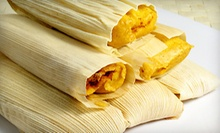 Mexican Food at Mama's International Tamales (Half Off). Two Options Available.
