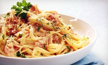 Italian and Pizzeria Food at Jazzeria Piccolo Pizza & Pasta (Up to 53% Off). Three Options Available.
