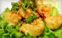 Asian Fusion Cuisine at Shanghai Lounge (Half Off). Two Options Available.