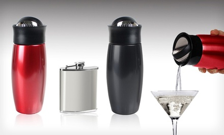 Metrokane Drinks Shaker & Flask