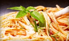 Dinner for Two or Dinner for Four with Drinks at Cafe Milano Italian Restaurant and Pizzeria (Up to 53% Off)