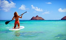 Standup-Paddleboard Rental for One or Two or Paddleboard Downwind Tour for Two or Four from The Kite Farm (52% Off)