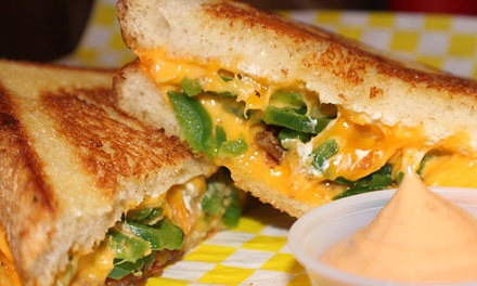 Grilled Cheese Meal and Beers for Two or Four at Cheesie's Pub & Grub (Up to 55% Off)