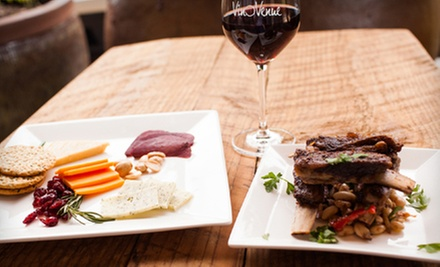 $29 for a Meal for Two with a Bottle of Wine, Cheese Platter, and Small Plate at Vino Venue (Up to $62 Value)