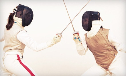 One Month of Beginner Fencing with Optional Two Months of Intermediate Fencing at Davis Fencing Academy (Up to 62% Off)