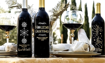 One or Two Custom-Engraved Bottles of Wine from Miramonte Winery (Up to 59% Off)