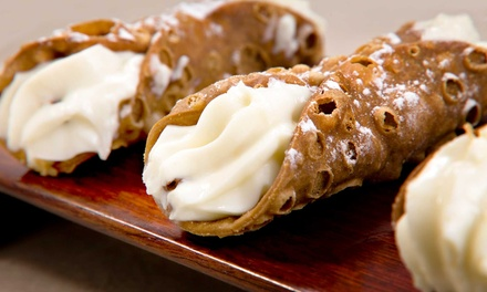 Italian Meal for Two or Four, or a Dozen Award-Winning Cannoli at Caffe Palermo (Up to 49% Off)