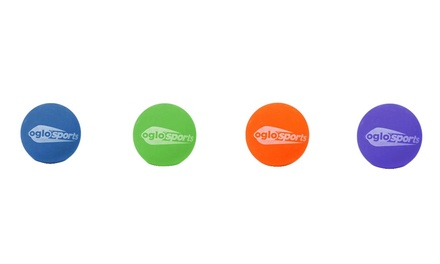 Oglo Glow-in-the-Dark Mega Bounce Balls (4-Pack)