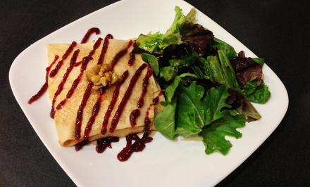 $15 for Two Lunch or Dinner Crepes and Specialty Drinks at Coffee & Crepes ($25.58 Value)