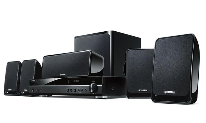 Yamaha blu ray 5 1 theater surround sound system groupon for Yamaha sound system