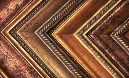 Custom Framing and Matting at Frame Outlet (Up to 72% Off). Two Options Available.