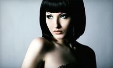 Haircut and Style with Optional Single Color, Partial Highlights, or Full Highlights at Max Hair (Up to 56% Off)