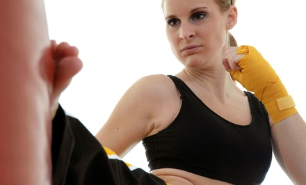 One Month or 10 Drop-In Classes of Beginner Kickboxing, Krav Maga, & Boot Camp at Tactix Gym (Up to 84% Off)