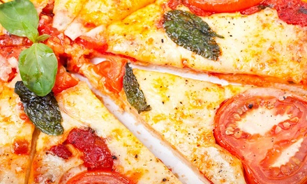 Pizza Dinners for Dine-In or Take-Out at Pizza Oven Mamma Mia (Up to 39% Off). Three Options Available.