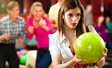$25 for Two Hours of Bowling with Shoe Rental and Cheese Pizza for Up to Six at Legend Lanes (Up to $73 Value)