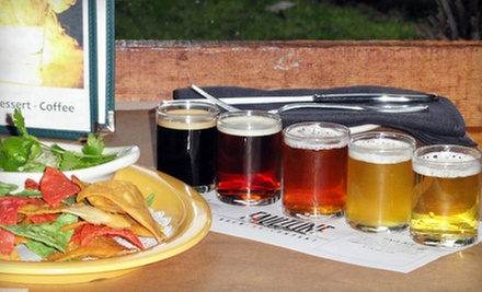 $10 for Two FBC Five-Flight Beer-Samplers and One Appetizer at Faultline Brewing Company (Up to $23.45 Value)