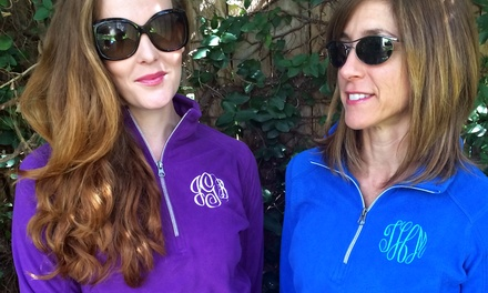 One, Two, or Four Monogrammed Fleeces from Embellish Accessories and Gifts (Up to 55% Off)