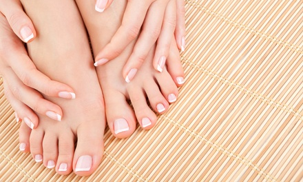 Mani-Pedi or Acrylic Manicure at Magic Hands (Up to 38% Off)