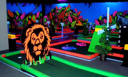 Three Rounds of Indoor Glow-in-the-Dark Mini Golf for Two, Four, or Six at Glowgolf (Up to 58% Off)