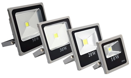 Holofote de luz LED cor branco frio ou branco quente desde 12,99€