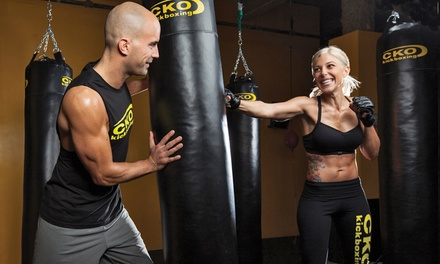 Three Kickboxing Classes or Six Kickboxing Classes with a Pair of Gloves at CKO Kickboxing (Up to 75% Off)