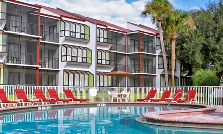 groupon daily deal - 2-Night Stay in a Two-Bedroom Villa for Six with Wildlife-Park Tickets at Orbit One Vacation Villas in Kissimmee, FL
