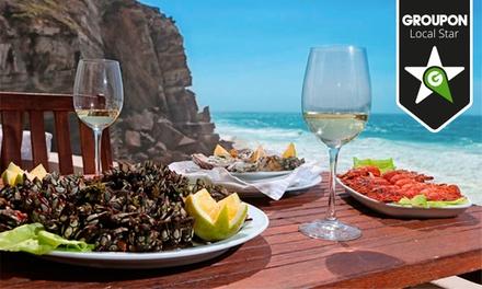 Azenhas do Mar — Sintra: menu para 2 ou 4 pessoas com couvert, entradas, pratos principais e sobremesas desde 36,90€