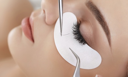 Full Set of Classic or Volume Eyelash Extensions, or Half Set of Extensions at Lashed with Love (Up to 51% Off)