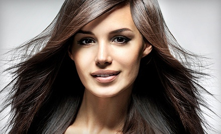 Haircut with Deep Conditioning or Color or Highlights at For Your Eyes Only Creative Hair Salon and Spa (Up to 61% Off)