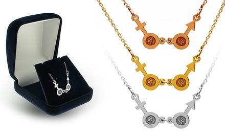 Colar Female and Male Sign personalizado com iniciais por 12,99€ ou dois colares por 19,99€
