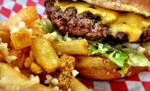 Burgers, Hot Dogs, and Shakes for Two or Four at Dugout Grill (Half Off)